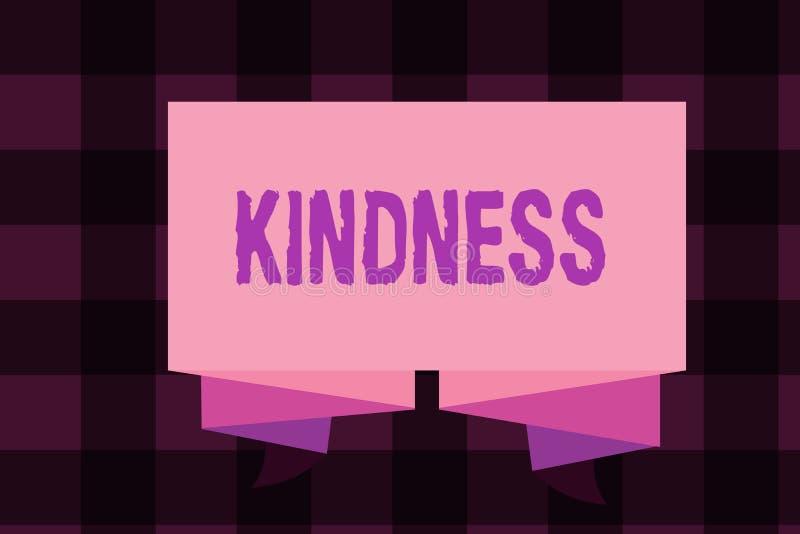 Note d'écriture montrant la gentillesse Qualité de présentation de photo d'affaires d'être chaleur généreuse et prévenante amical illustration stock