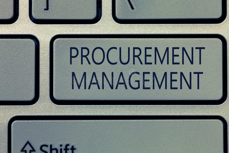 Note d'écriture montrant la gestion de fourniture Biens de achat de présentation et services de photo d'affaires des sources exte photographie stock libre de droits