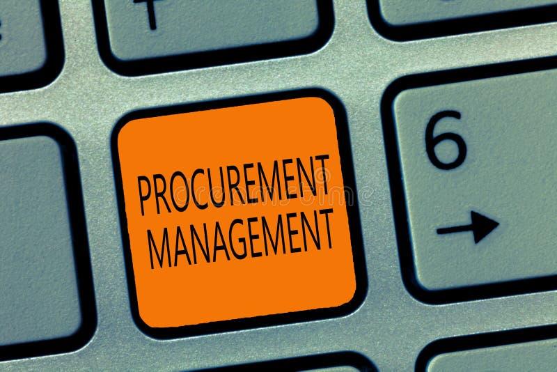 Note d'écriture montrant la gestion de fourniture Biens de achat de présentation et services de photo d'affaires des sources exte images libres de droits