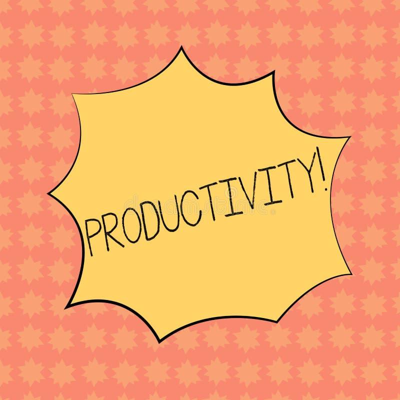 Note d'écriture montrant la productivité Photo d'affaires présentant le grand cri perçant de souffle d'explosion de succès de per illustration de vecteur