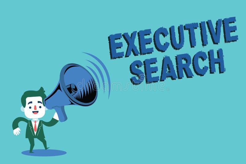 Note d'écriture montrant la recherche exécutive Les entreprises de services de présentation de recrutement de photo d'affaires pa illustration de vecteur