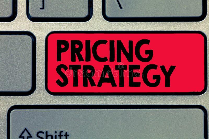 Note d'écriture montrant la stratégie d'évaluation L'ensemble de présentation de photo d'affaires maximisent la rentabilité pour  image stock