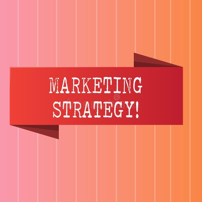 Note d'écriture montrant la stratégie marketing Organisation pour la recherche de présentation de créativité de formule de plan d illustration libre de droits