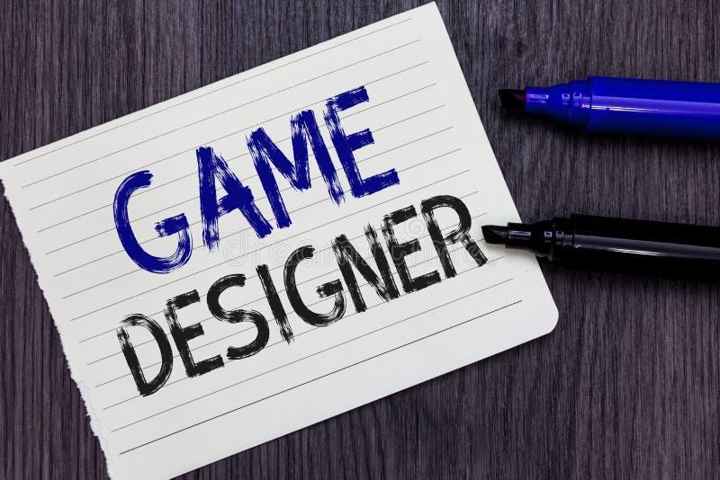Note d'écriture montrant le concepteur de jeu Carnet Scripting de présentation de graphiques des consoles de programmeurs de pixe images stock