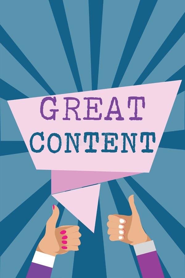 Note d'écriture montrant le grand contenu Originalité applicable lisible de motivation de présentation de satisfaction de photo d illustration libre de droits