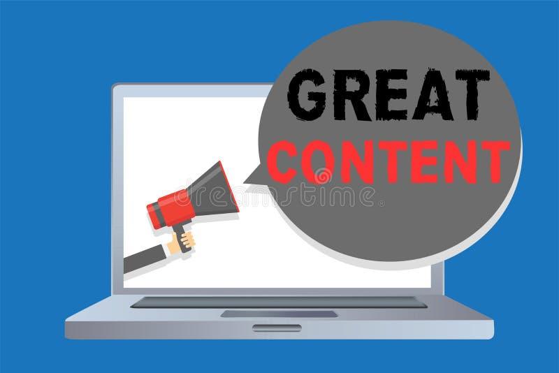 Note d'écriture montrant le grand contenu Originalité applicable lisible de motivation de présentation de satisfaction de photo d illustration de vecteur