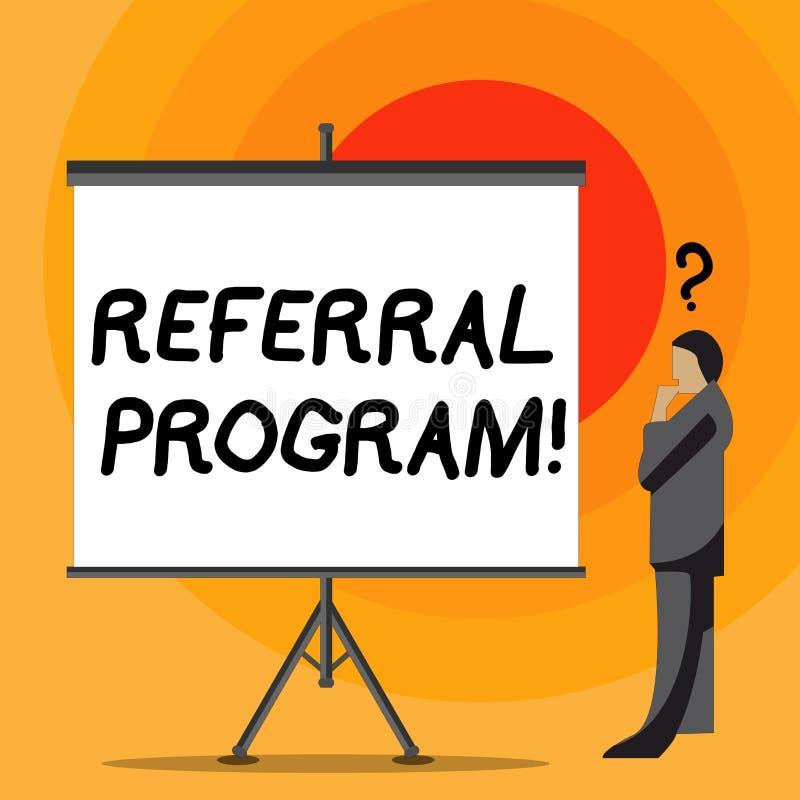Note d'écriture montrant le programme de référence Photo d'affaires présentant la méthode interne de recrutement utilisée par des illustration de vecteur