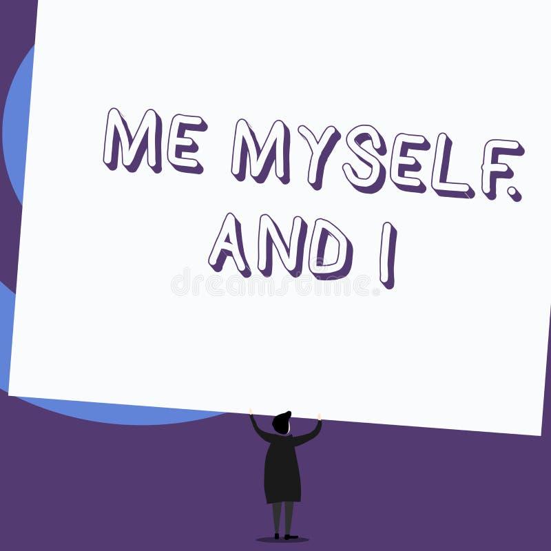 Note d'?criture me montrant moi-m?me et I Présentation de photo d'affaires employée par le haut-parleur pour se rapporter comme o illustration libre de droits