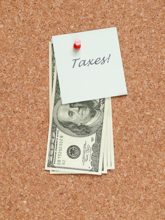 Note d'impôts photo libre de droits