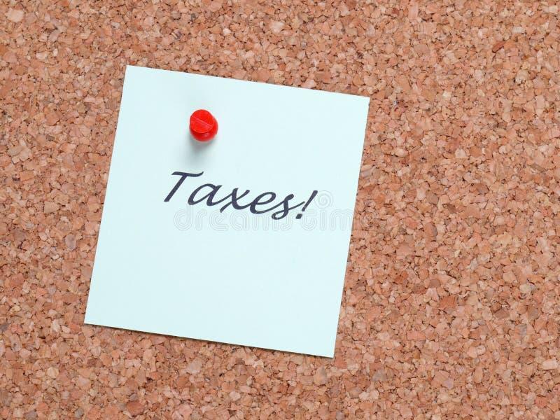 Note d'impôts photos libres de droits