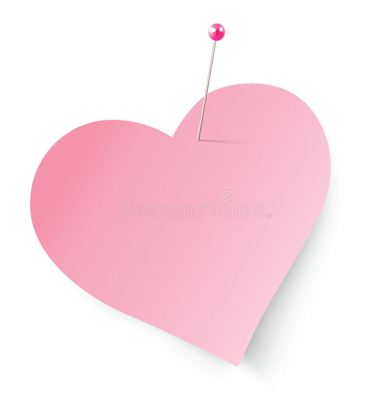 Note de coeur illustration de vecteur