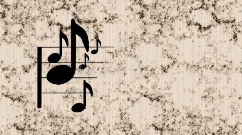 Note de musique illustration de vecteur