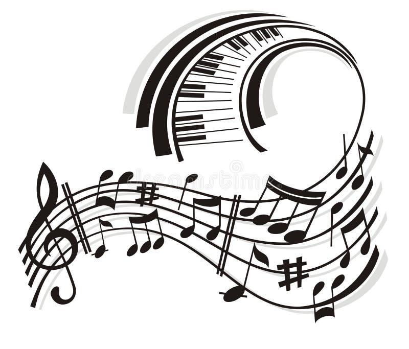 Note de musique. illustration de vecteur
