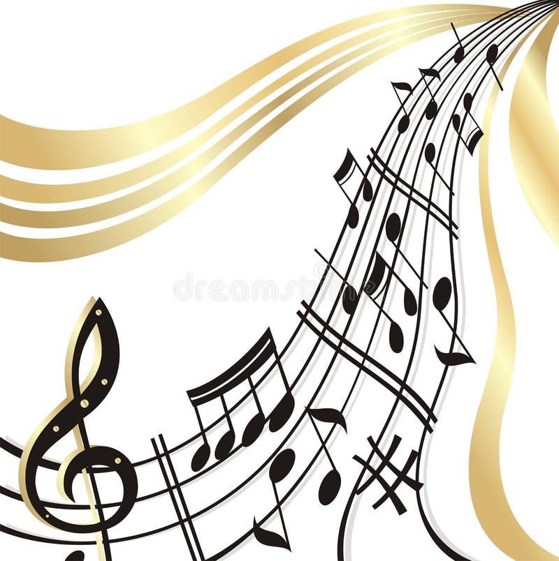 Note de musique. illustration stock