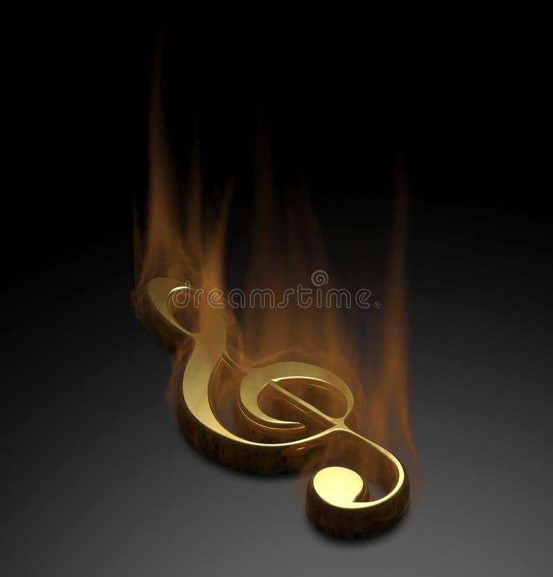 Note de musique du feu image stock