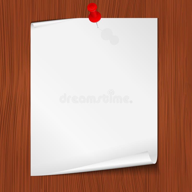 Note de papier illustration stock