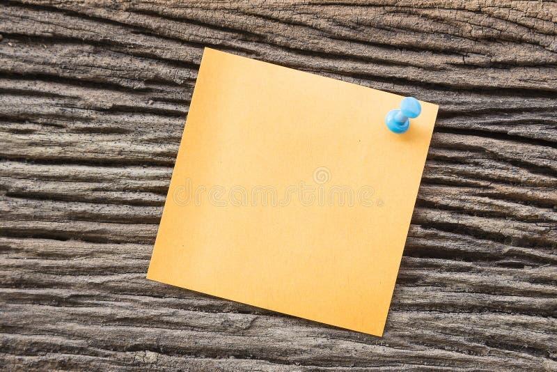 Note de papier collante images libres de droits