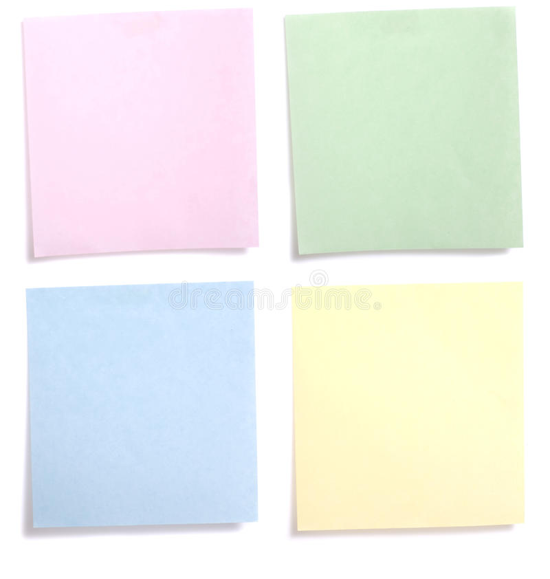 Note de papier colorée photo stock