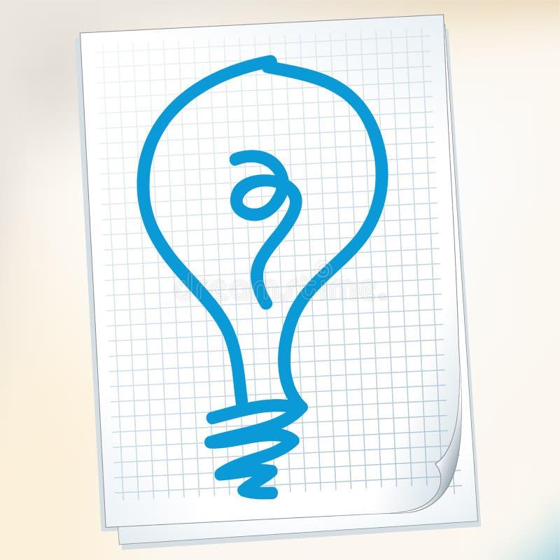 Idée sur la note de papier illustration libre de droits