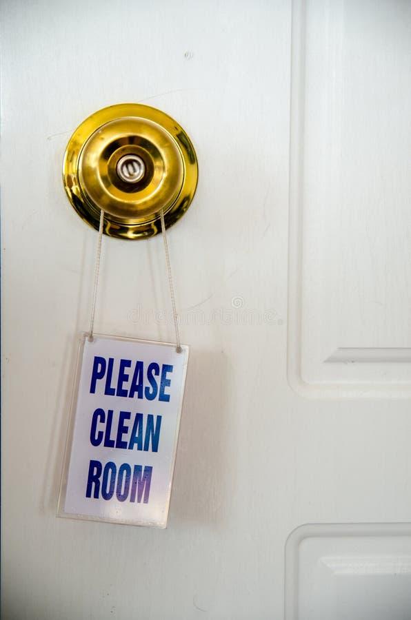 Note de pièce propre sur la porte photographie stock libre de droits