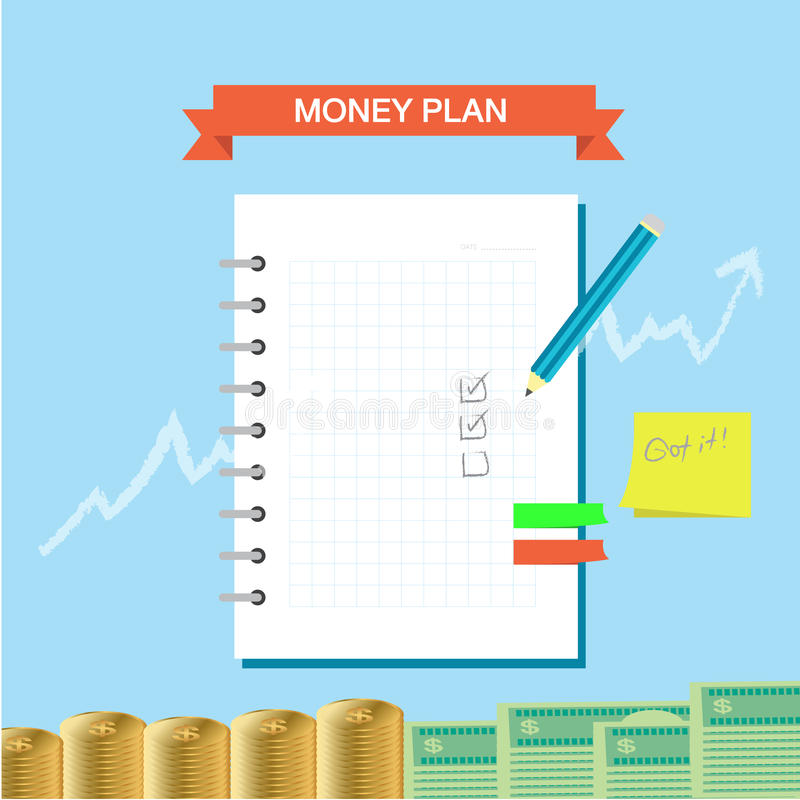 Note 002 de plan illustration stock