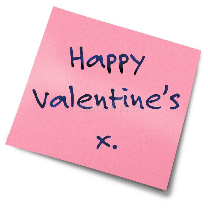 Note de post-it de Valentines image stock