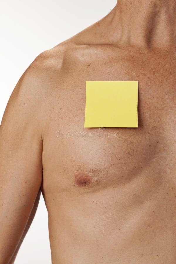 Note de post-it médicale image libre de droits