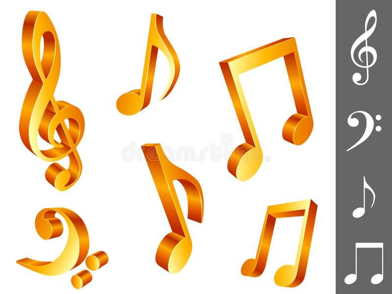 Note di musica. illustrazione vettoriale