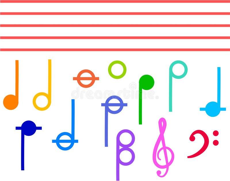 Download Note di musica illustrazione di stock. Illustrazione di clef - 210193