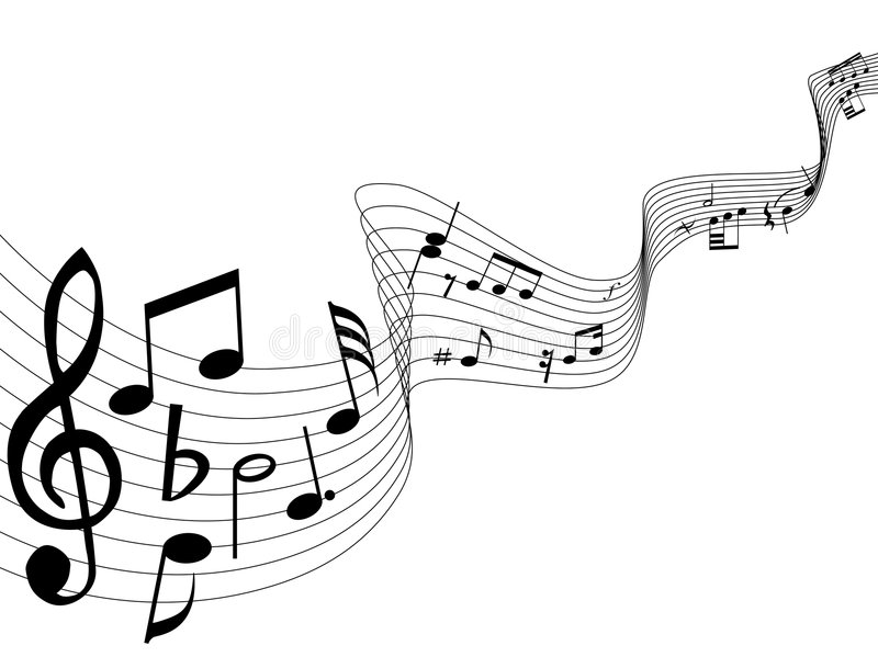 Note di musica illustrazione di stock