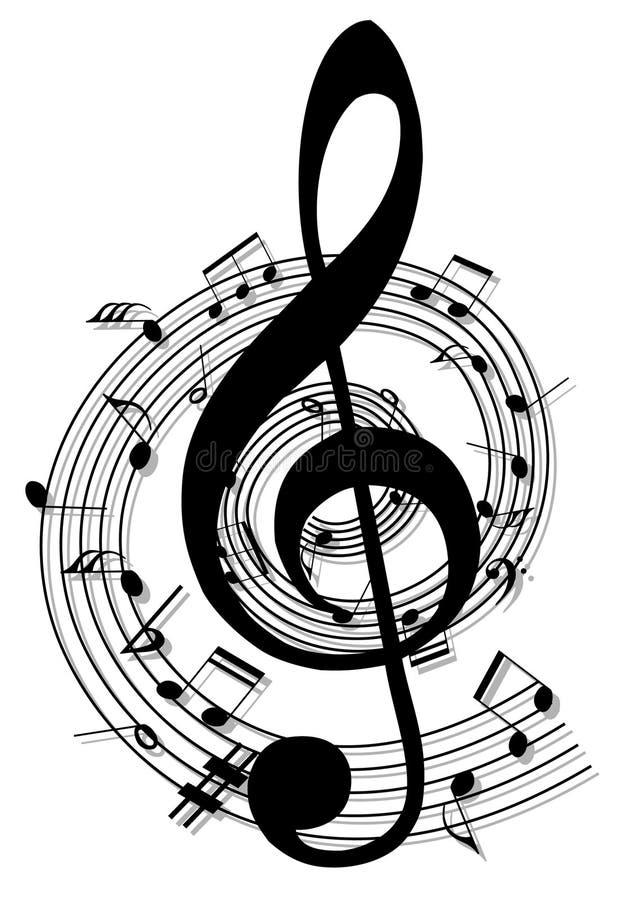 Note di musica di priorità bassa illustrazione vettoriale