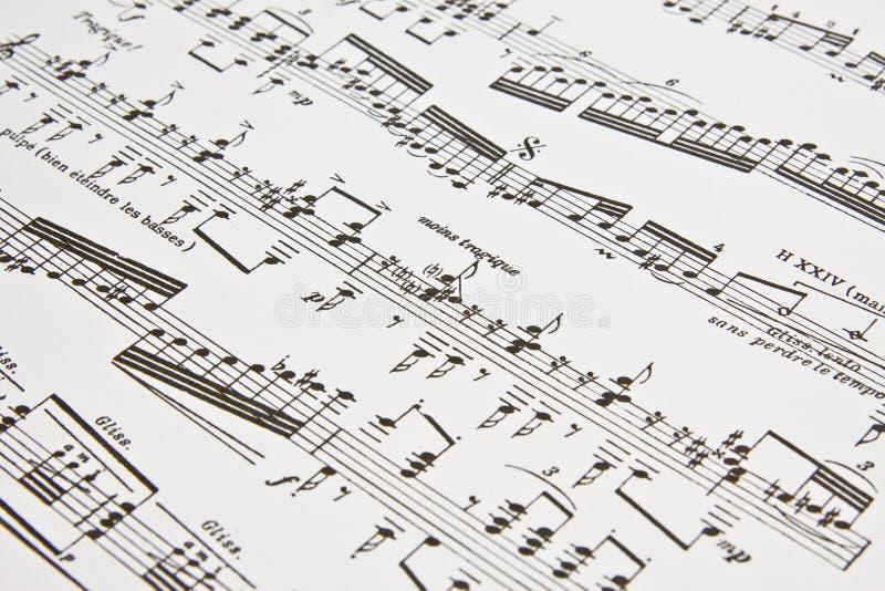 Note di musica scritte come fondo immagini stock libere da diritti