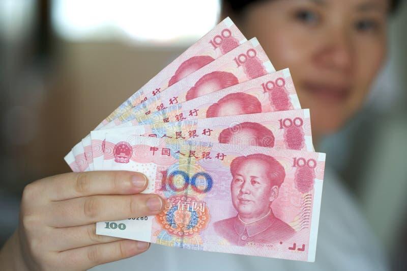 Note di valuta. RMB fotografia stock libera da diritti