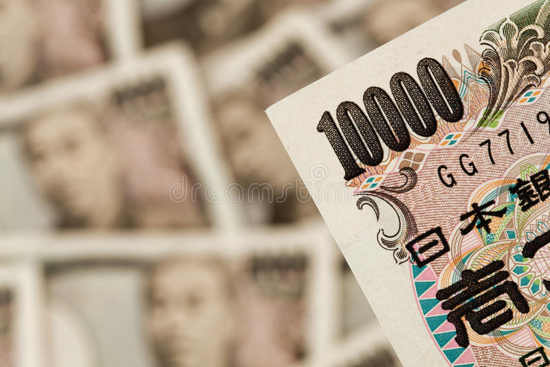 Note di Yen giapponesi. Soldi dal Giappone fotografie stock libere da diritti