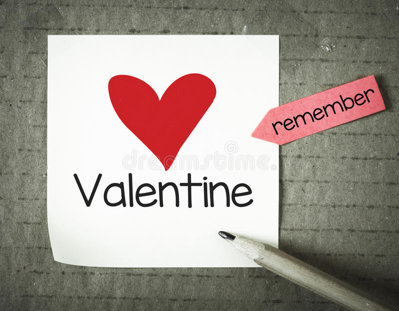 Download Note with 14 february stock image. Image of amour, paper - 49231783