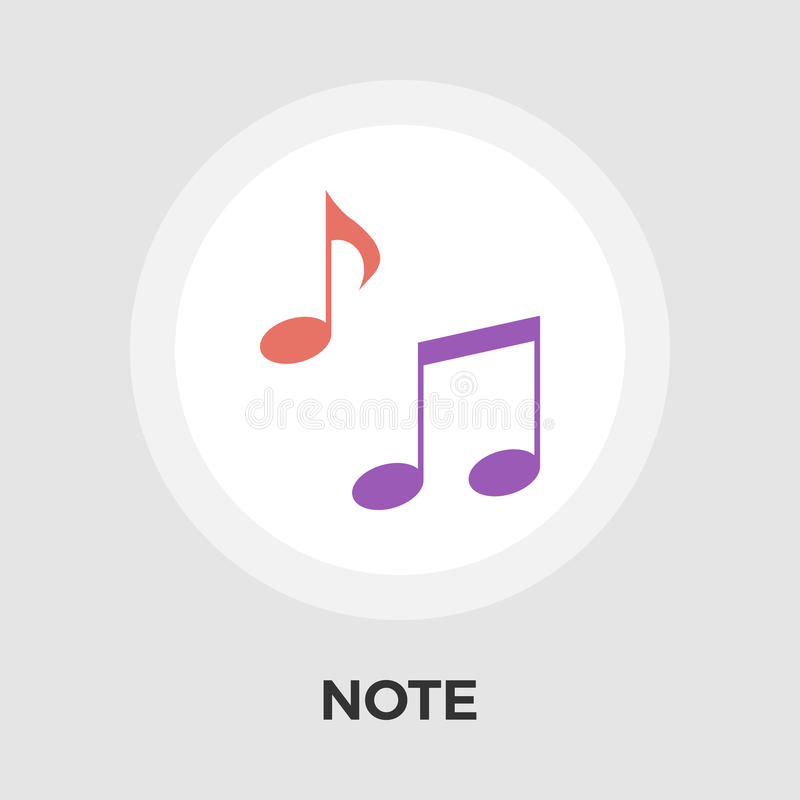 Note Flat Icon royalty free illustration