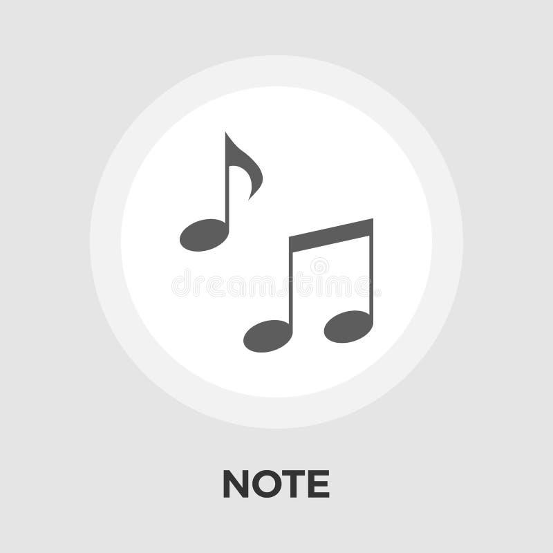 Note Flat Icon stock illustration