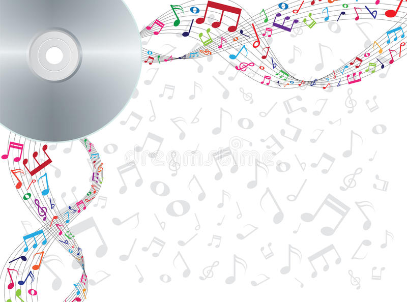 Download Note Floating From Cd Or Dvd Stock Vector - Image: 26233541