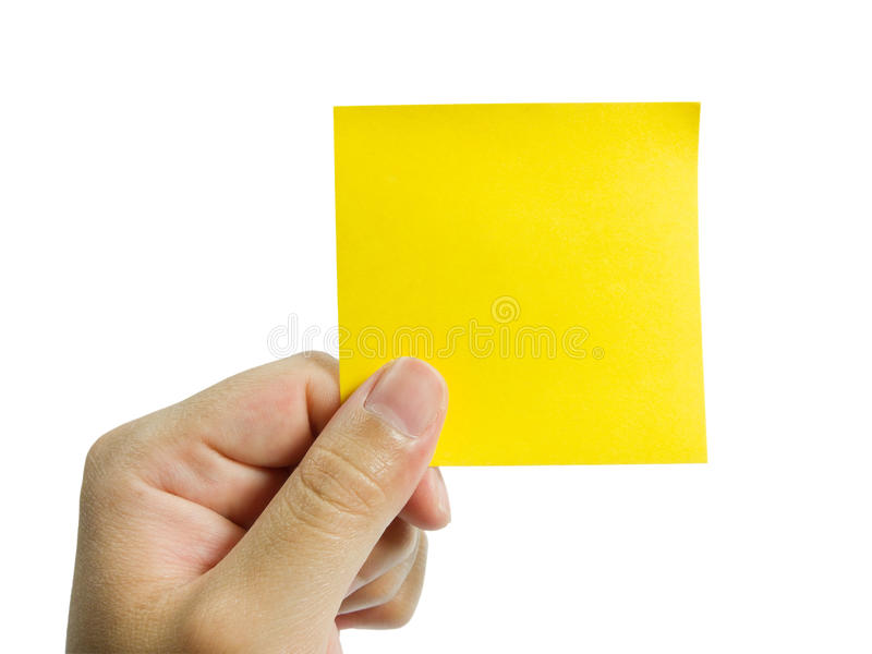 Download Note In Hand stock image. Image of hand, paper, office - 20023137