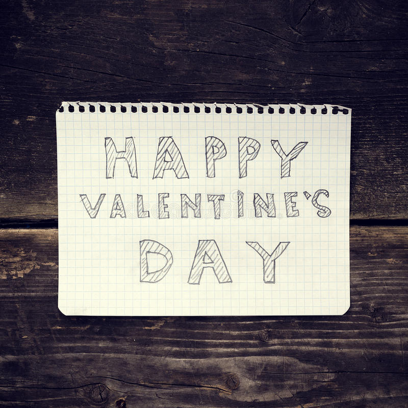 Note Happy Valentine's Day royalty free stock photo