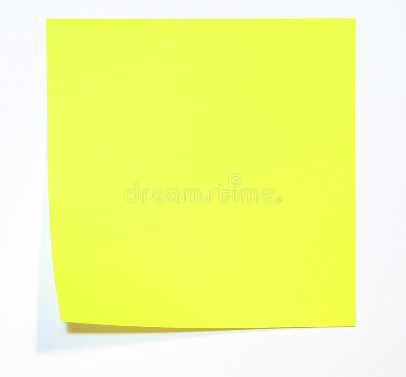 Note jaune images stock