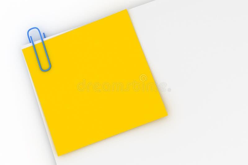 Note jaune jointe en annexe image libre de droits