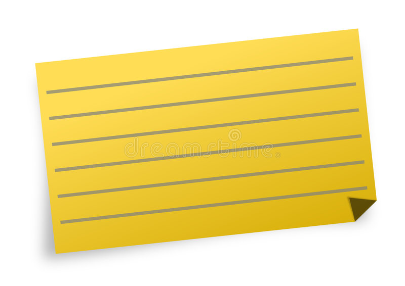 Note With Lines Royalty Free Stock Photography