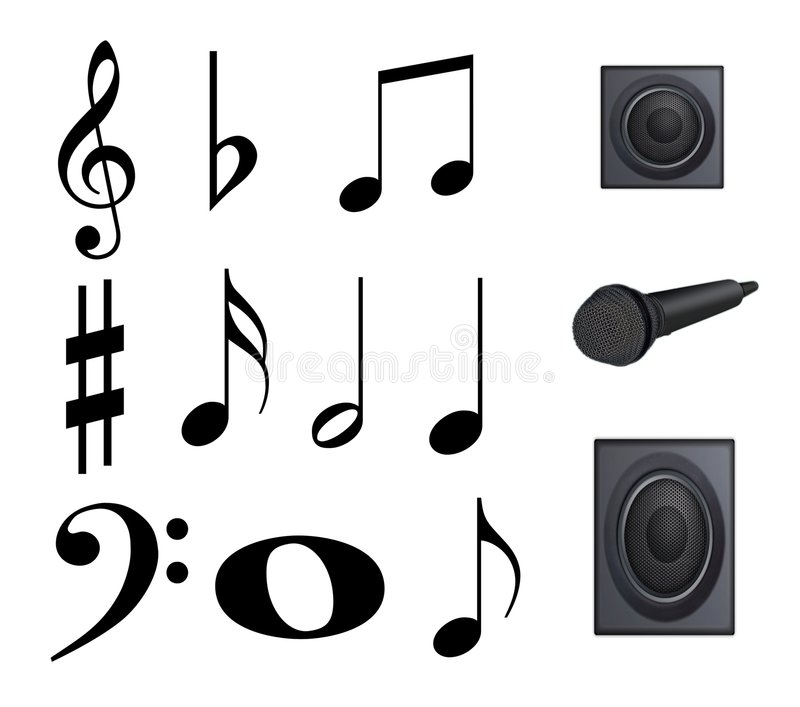 Download Note, music stock illustration. Image of treble, bass - 7169433