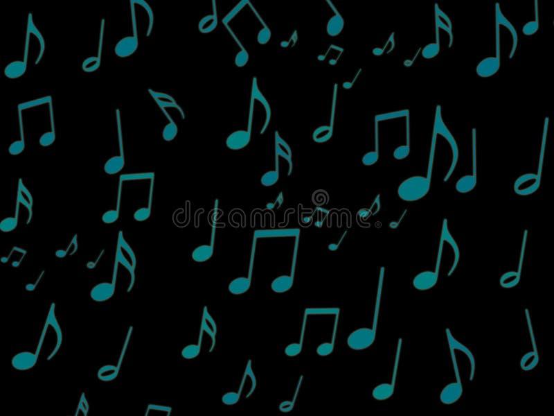 Note musicale bleue sur le papier peint noir d'écran photos libres de droits
