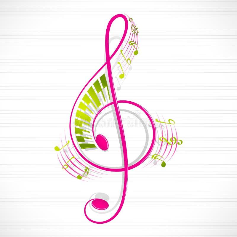 Note musicale florale illustration libre de droits