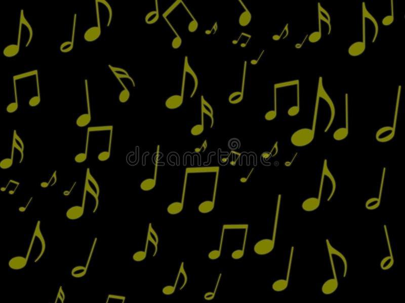 Note musicale sur le papier peint noir d'écran photo libre de droits