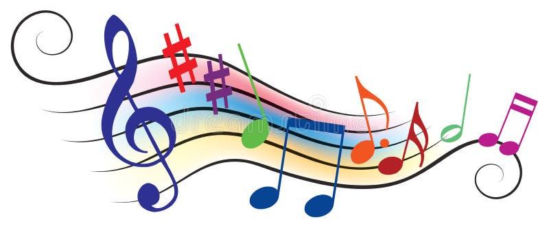 Note musicali illustrazione vettoriale