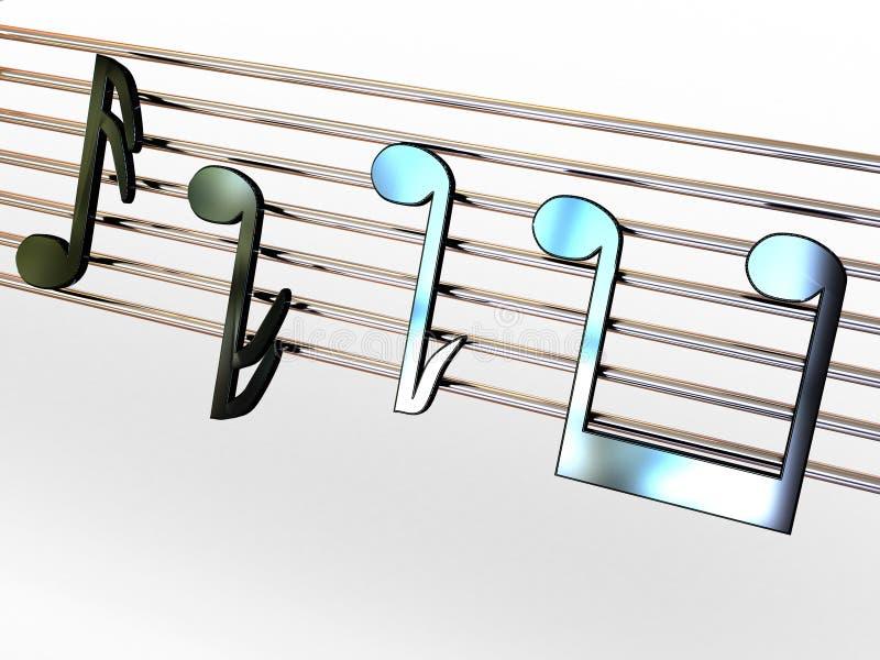 Note musicali. illustrazione vettoriale