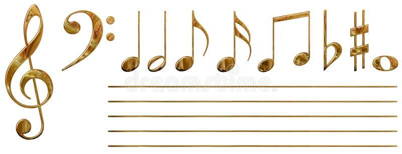 Note musicali (oro) illustrazione vettoriale